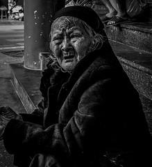 Warm coat in a even warmer place. (stevenh14) Tags: oldlady hanoi vietnam asia photgraphy fuji fujifilm xt20 smctakumar24mm smc blackandwhite bnw street streetphotography sociadocumentary photography xt3 art