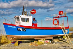 Rosehearty Harbour - Aberdeenshire Scotland - 19/04/2018 (DanoAberdeen) Tags: roseheartyharbour 2018 danoaberdeen fish fishing fr12oystercatcher trawler candid amateur nikond750 ecosse escotia scotland aberdeenshire cloudporn bluesky clouds fishingboat crabs scallops cod mackrel shellfish northeastscotland