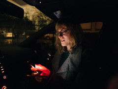 Lisa (BurlapZack) Tags: olympusomdem5markii olympusmzuikoed12mmf2 vscofilm pack01 dallastx oakclifftx phone portrait text smartphone availablelight lowlight highiso handheld bokeh dof youruberishere ride passenger drive night microfourthirds cinematic screen glow screentime rain rainy