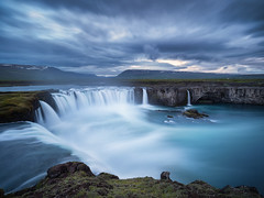 God of Thunder (v-_-v) Tags: island is waterfall godafoss river storm iceland goðafoss bluehour europe