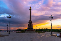 Yaroslavl (gubanov77) Tags: yaroslavl sunset monument sky city cityscape park russia urban street streetscape