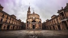 Universidad laboral II (Leticia Cabo) Tags: asturias universidad university romanisque romanico basilica church square rain clouds arquitectura architecture