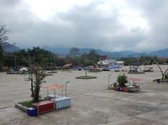 Strange Empty Plaza