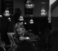 the Sun is gone but I have a light (Bury Gardener) Tags: streetphotography suffolk street streetcandids snaps strangers candid candids people peoplewatching folks 2018 nikond7200 nikon england eastanglia burystedmunds britain bw blackandwhite monochrome mono cornhill