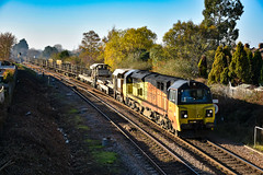70805 + 70802 - March West Junction - 18/11/18. (TRphotography04) Tags: colas rail freight 70805 70802 creep past march west junction on approach whitemoor yard working 6c77 1155 sleaford ldc gbrf