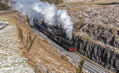 45690 & 45407 | Dove Holes Tunnel | 17th March '18 (Frank Richards Photography) Tags: buxton black 5 45407 45175 45690 lea leander dove holes peak forest train steam high explorer 1z56 nikon d7100 uk england derbyshire railtour west coast railways