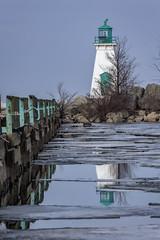 Port Dalhousie Ontario 2018 (John Hoadley) Tags: lighthouse portdalhousie ontario 2018 reflection january canon 7dmarkii 100400ii f11 iso250