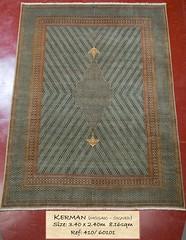 410 Kerman Mosaic, 340x240, 8.16 (Persian Rugs UK) Tags: 340x240 410x260 60101 816 kerman loc medallion mosaic persian signed