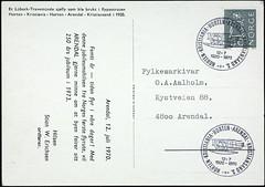 postkort (Avtrykket) Tags: frimerke porto postkort arendal austagder norway nor