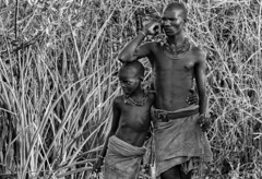 Father and Son (alphonso49uk) Tags: father son hamer tribe portrait blackandwhite ethiopia omovalley