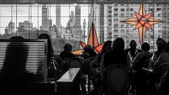 Columbus Circle (John St John Photography) Tags: timewarnercenter streetphotography candidphotography columbuscircle newyorkcity newyork restaurant diners christophercolumbus statue monument silhouette christmas decorations buildings skyline centralparksouth johnstjohn johnstjohnphotography