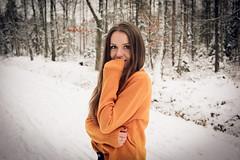 Fiancée (cutebeets) Tags: fiancee girlfriend girl snow forest road trees narzeczona dziewczyna śnieg las droga ścieżka path drzewa sweet słodka lovely kochana beautiful piękna
