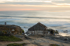 Windansea Surf Shack (Photos By Clark) Tags: california beachshots subjects northamerica location canon2470 canon5div unitedstates sandiego cities locale places where pacific longexposure waves smooth shack historiclandmark surf surfing wintersun cliffs sand rocks sunset thesandiegoist