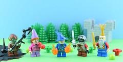Fantasy minifigs #2 : Kidsdom👑 (Alex THELEGOFAN) Tags: lego legography minifigure minifigures minifig minifigurine minifigs minifigurines kids fantasy kingdom figbarf child king knight princess wizard troll green forest world middle age