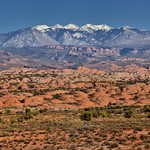 Petrified Dunes and the La Sal Mountains (Arches National Park) thumbnail