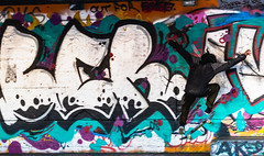Southbank skateboarder (Adin Roberts) Tags: southbank skateboard grafitti