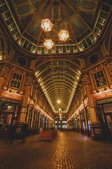 Leaden Hall Market (Myrinphoto) Tags: london londoncity city england ldn greatbritain uk architecture night nightshots leadenhallmarket light market ceiling lamps лондон город городскойпейзаж ночь огни архитектура торговыеряды