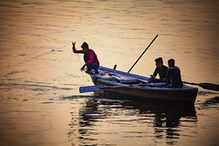 "Fishing On The Ganges (El-Branden Brazil) Tags: varanasi india indian ganges ganga ceremony hindu hinduism asian asia sacred holy mystical ""south asia"" fishing"
