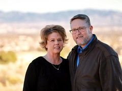 High Desert Portrait (robert.babnick) Tags: newmexico albuquerque southwest winter cold mountain middleaged married happy couple 85mm autumn naturallighting portrait family desert
