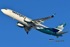 C-GEHF Westjet Boeing 737 MAX8 DSC_8803 (Ron Kube Photography) Tags: aircraft plane flight airliner nikon nikond500 d500 ronkubephotography yyc calgary calgaryinternationalairport cgehf