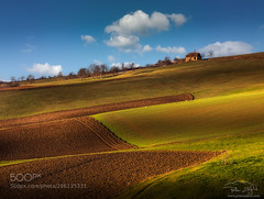 House on the hill (hoangcuongnokia8800) Tags: 500px sunset countryside clouds rural farm travel agriculture house autumn light colours landscape lines slovenia slovenija