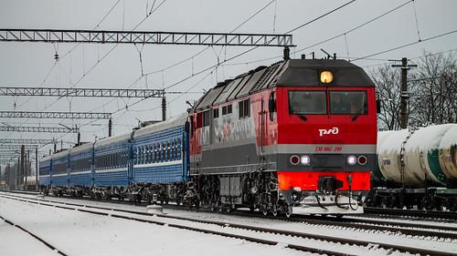 ТЭП70БС-299, Санкт-Петербург - Минск, станция Царское Село ©  neu_zwei
