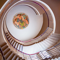 Eric Gill at the Midland Hotel (robmcrorie) Tags: denis tegetmeier eric gill medallion plaster bas relief hear old triton blow his wreathed horn stairs staircase midland hotel morecambe art deco 1930s nikon d850 1933