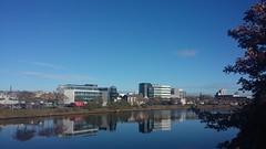 Reflections, River Dee, Aberdeen, Oct 2018 (allanmaciver) Tags: modern buildings aberdeen north east scotland river dee office blocks blue water allanmaciver