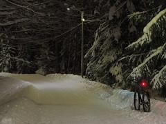 2019 Bike 180: Day 22, January 30 (olmofin) Tags: 2019bike180 finland bicycle snow snowdrift lumi kinos lumikinos polkupyörä pyörätie mzuiko 45mm f18