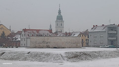 On the snow (malioli) Tags: city town place snow snowing weather church tower karlovac croatia hrvatska canon europe