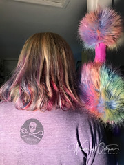 Travel Buddies & Matching Hair (wanderlust octopus) Tags: 2017 adventureostrich ozymandias ozymandiasadventures ozzietravel rainbowhair rainbowostrichadventures travelbuddies