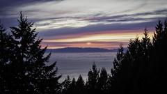 Cypress Lookout Sunset (Sworldguy) Tags: fog sunset cypress mountains treeline skyscape winter lowermainland britishcolumbia vancouver vancouverisland view sonya73