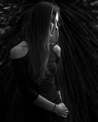 Emily (Jannik Meussling) Tags: portrait black white bnw structure moody dark fujifilm x pro2 xf 56mm xf56mm12 fuji