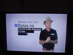 PCTA Anti-Cable TV and Cable internet Tapping Public Imformation Campaign with Kim Atienza (renan sityar) Tags: community cable vision corporation channel 8 maxtv digital tv pcta philippine television association inc