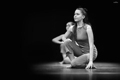 dance in black and white (dim.pagiantzas | photography) Tags: dance dancing dancers dark women female people faces portrait teens stage theater lights spot grayscale blackandwhite black monochrome reflections canon absoluteblackandwhite