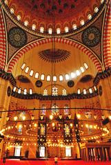 Süleymaniye Mosque (Anselmo Portes) Tags: istambul istanbul turkey turquia mosque mesquita light luz interior lines curves
