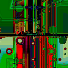 diving station (square) (j.p.yef) Tags: peterfey jpyef yef digitalart abstract abstrakt square green red elitegalleryaoi bestcapturesaoi