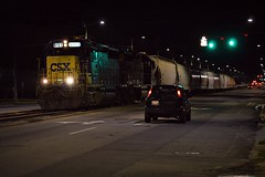 CSX 6151 (builder24car) Tags: railfanning benchingthefreights night streetrunning csx csxf736 fayettevillenorthcarolina