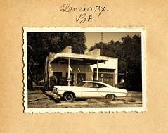 Glenrio_07 série 3 (C&C52) Tags: paysage landscape stationservice voiture vestiges abandon artnumérique
