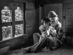 The link (karmajigme) Tags: child childhood family old grandfather human generation bhutan himalaya travel monochrome noiretblanc blackandwhite bw