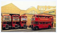 Blinded... (kingsway john) Tags: london transport rt rtw blinds garage 176 scale oo gauge models buses bus