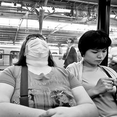 tokyo, japan (michaelalvis) Tags: asia bw blackandwhite candid city citylife fujifilm japan japanese japon monochrome nihon nippon peoplestreet portrait people peoplestreets streetphotography streetlife street travel tokyo train trains urban women woman x70