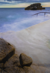 the forty foot (srlshaw) Tags: dublin ireland longexposure sea steps rocks water movement fortyfoot