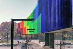 The New Children's Hospital (pni) Tags: architecture building hospital color colour homunculi tree sky pavament glass helsinki helsingfors finland suomi pekkanikrus skrubu pni