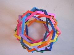 """The Hurricane"" Eight Interlocking Heptagons (Byriah Loper) (mborigami) Tags: origami modularorigami folding paperfolding wireframe"