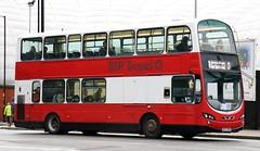 MP Travel, Eccles 573 K573 RRH leaves Manchester Victoria working Rail Replacement to Bolton. (Gobbiner) Tags: b7tl mptravel lg02khf wrightbus manchester eclipsegemini k573rrh volvo railreplacement wvl9 londongeneral