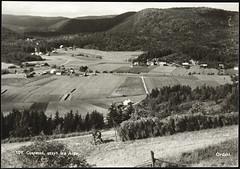 Postkort fra Agder (Avtrykket) Tags: bolighus hesje hus låve postkort skog uthus vei åker gjerstad austagder norway nor