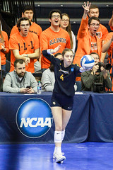 Spike Squad (RPahre) Tags: ncaa volleyball champaign illinois huffhall huff sarahrose marquette marquetteuniversity serve spikesquad universityofillinois