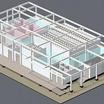 完全密閉型植物工場システムの写真