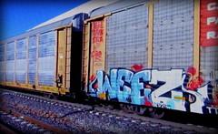 (timetomakethepasta) Tags: weez weezy wyse d30 nekst freight train graffiti art cp autorack canadian pacific railway